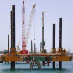 piledriving modular jack up barge