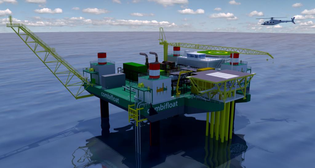 combifloat modular c1500 jack up barge mopu