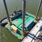 top view modular jack up barge baltic sea
