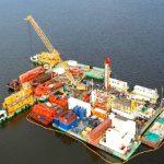 drilling platform modular barge swamp drilling