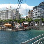Combifloat modular pontoon in lake