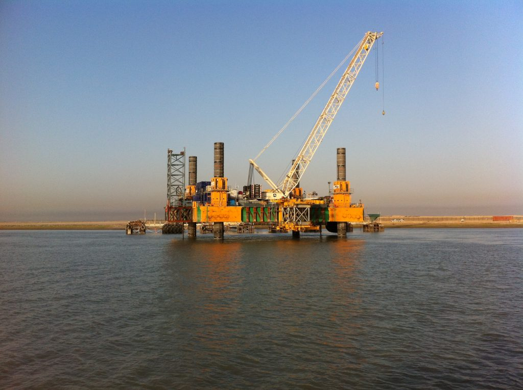 1000t modular jack up working in middle east