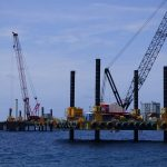 Combifloat modular jack up piledriving project for jetty