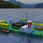 artist impression modular cable lay barge