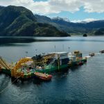 C7 cable lay barge in lake