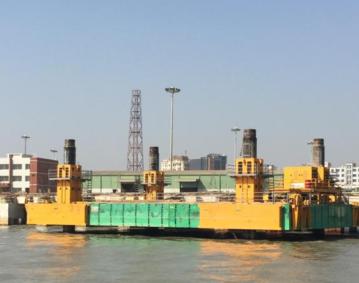 Combifloat c7 modular jack up barge self-elevating platform
