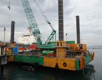 Combifloat C7 modular jack up barge self elevating platform Indonesia