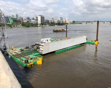 sectional or modular barge africa