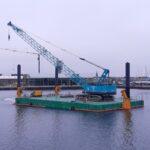 c7 modular holding spud barge